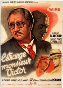 L'étrange Monsieur Victor (1938) afişi