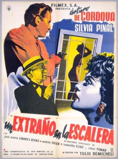 Un Extraño En La Escalera (1955) afişi