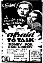 Afraid To Talk (1932) afişi