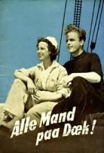 Alle Mand Paa Dæk (1942) afişi