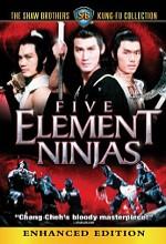 Five Element Ninjas (1982) afişi