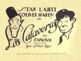 Los Calaveras (1931) afişi