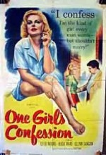 One Girl's Confession (1953) afişi