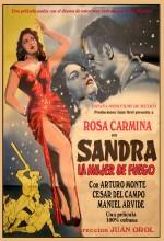 Sandra, La Mujer De Fuego (1954) afişi