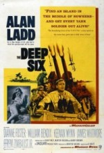 The Deep Six (1958) afişi
