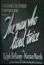 The Man Who Lived Twice (1936) afişi