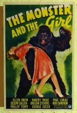 The Monster And The Girl (1941) afişi