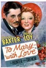 To Mary  with Love (1936) afişi