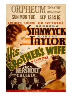 His Brother's Wife (1936) afişi