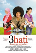 3 Hati Dua Dunia, Satu Cinta (2010) afişi