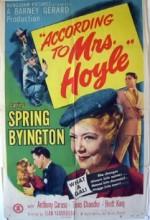 According To Mrs. Hoyle (1951) afişi