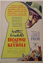 Broadway Through A Keyhole (1933) afişi