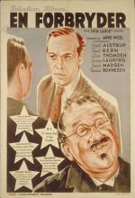 En Forbryder (1941) afişi