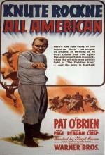 Knute Rockne All American (1940) afişi