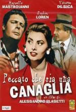 Peccato che sia una canaglia (1955) afişi