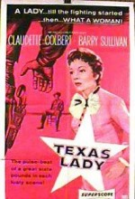 Texas Lady (1955) afişi