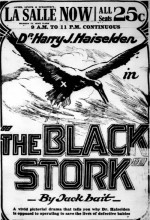 The Black Stork (1917) afişi