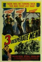 Three Desperate Men (1951) afişi