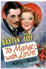 To Mary  with Love (1936) afişi