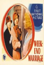 Week-end Marriage (1932) afişi