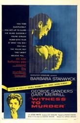 Witness To Murder (1954) afişi