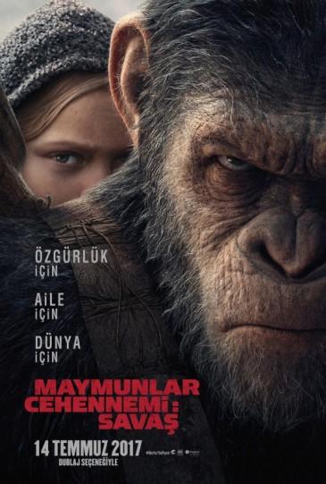 Maymunlar Cehennemi 3: Savaş (2017) afişi