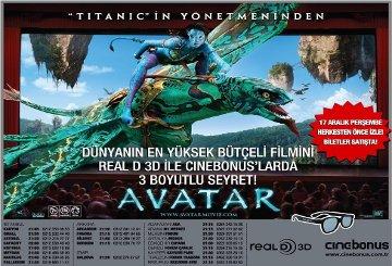 Avatar Bu Gece Cinebonus'lar da...
